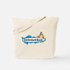 Old Orchard Beach ME - Surf Design. Tote Bag