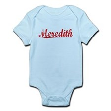 Meredith, Vintage Red Infant Bodysuit