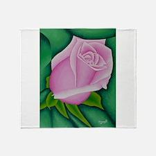 Single Rose for Prints.jpg Throw Blanket