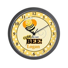 Cute as Can Bee Wall Clock - Logan