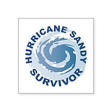 """Hurricane Sandy Survivor 2012 Square Sticker 3"""" x"""