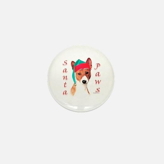 Basenji Paws Mini Button