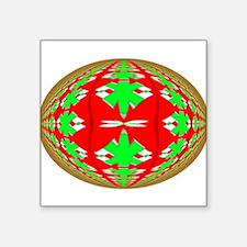 """Christmas Ball Square Sticker 3"""" x 3"""""""