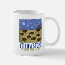 Yellowstone Bison Scene Mugs