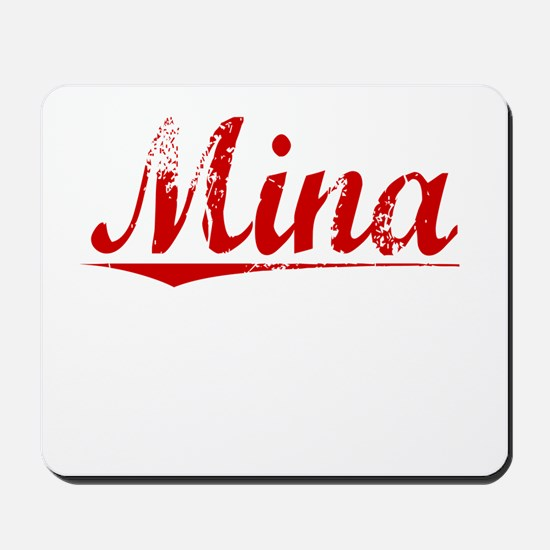 Mina, Vintage Red Mousepad