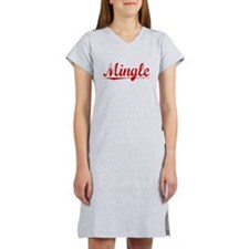 Mingle, Vintage Red Women's Nightshirt