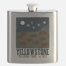 Cute Yellowstone national park Flask