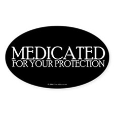 Medicated Oval Decal