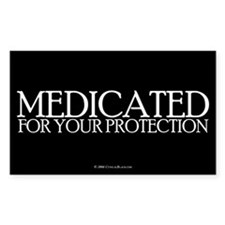 Medicated Rectangle Decal