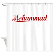 Mohammad, Vintage Red Shower Curtain
