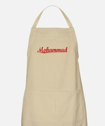 Mohammad, Vintage Red Apron