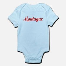 Montague, Vintage Red Infant Bodysuit