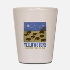 Cute Yellowstone national park Shot Glass