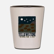 Funny Yellowstone national park Shot Glass