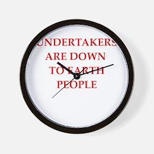 undertaker joke Wall Clock