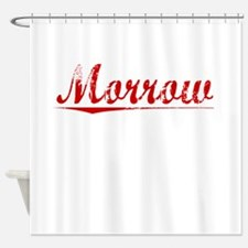 Morrow, Vintage Red Shower Curtain