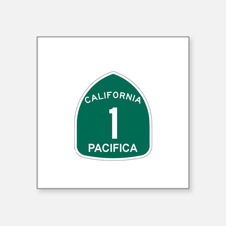 Pacifica, California Highway Sticker (Rectangular