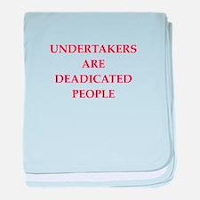 undertaker joke baby blanket