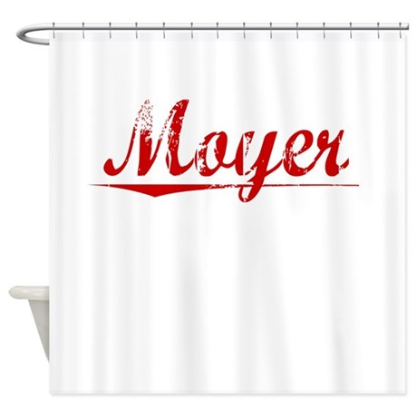 Moyer, Vintage Red Shower Curtain