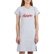 Moyers, Vintage Red Women's Nightshirt