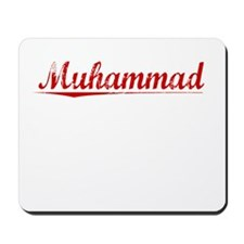Muhammad, Vintage Red Mousepad