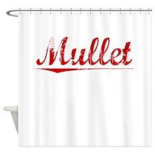 Mullet, Vintage Red Shower Curtain