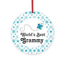 Grammy (Worlds Best) Ornament (Round)