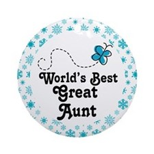 Worlds Best Great Aunt Ornament (Round)