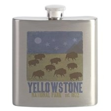 Cute Yellowstone national park Flask