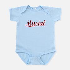Musial, Vintage Red Infant Bodysuit