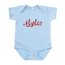 Myles, Vintage Red Infant Bodysuit