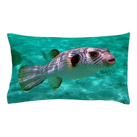 Striped Puffer Fish Pillow Case