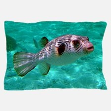 Striped Puffer Fish Pillow Case