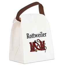 Rottweiler Mom Canvas Lunch Bag