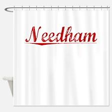 Needham, Vintage Red Shower Curtain