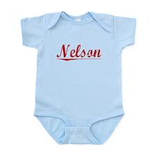 Nelson, Vintage Red Infant Bodysuit