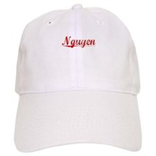 Nguyen, Vintage Red Baseball Cap