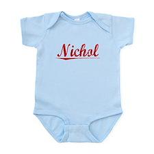 Nichol, Vintage Red Infant Bodysuit