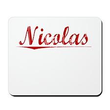 Nicolas, Vintage Red Mousepad