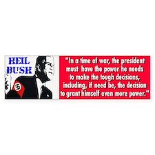 heil bush... Bumper Bumper Sticker