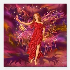 """Fairy Flame Square Car Magnet 3"""" x 3"""""""