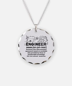Funny Engineer Definition Necklace