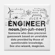 Funny Engineer Definition Tile Coaster