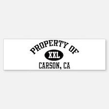 Property of CARSON Bumper Bumper Bumper Sticker