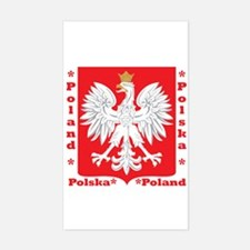 WB Polish Crest Rectangle Decal