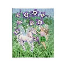 Fairy Unicorn Throw Blanket