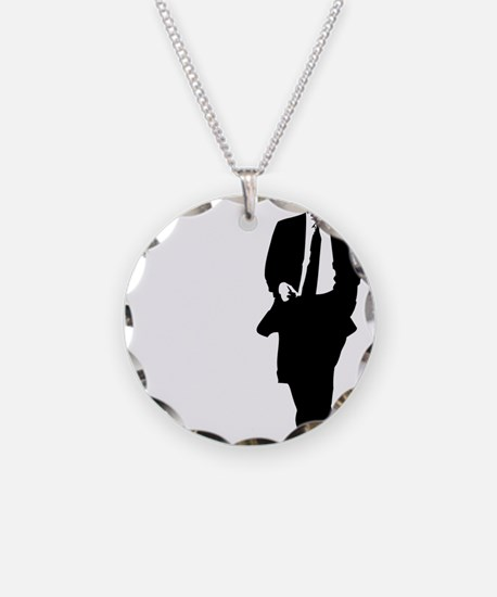 bigobama.png Necklace Circle Charm