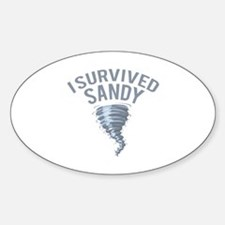 I Survived Hurricane Sandy Sticker (Oval)