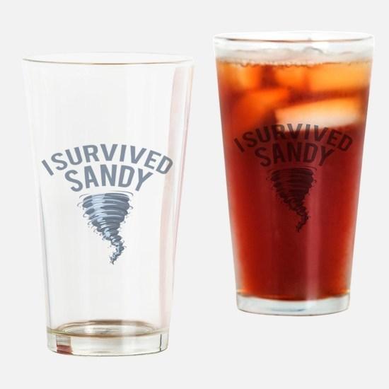 I Survived Hurricane Sandy Drinking Glass