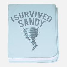 I Survived Hurricane Sandy baby blanket